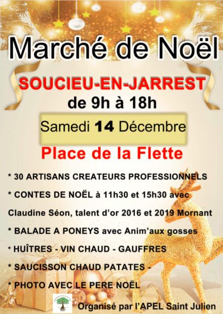 Marché de Noël de Soucieux en Jarrest .