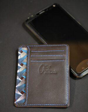 Porte cartes portefeuille cuir artisanat français lyonnais maroquinerie accessoires homme cuir ofilducuir