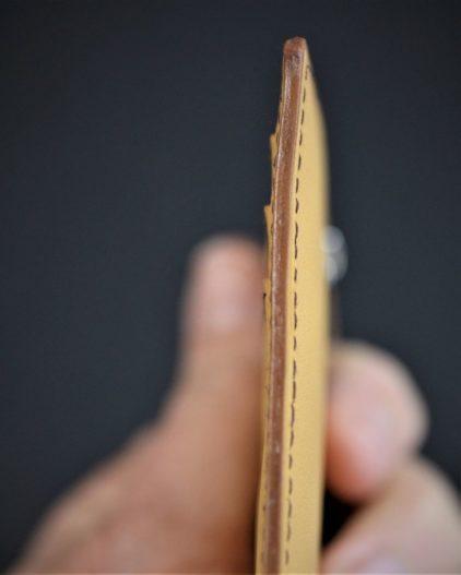 portefeuille porte cartes bancaire maroquinerie accessoires lyon cuir camel ofilducuir