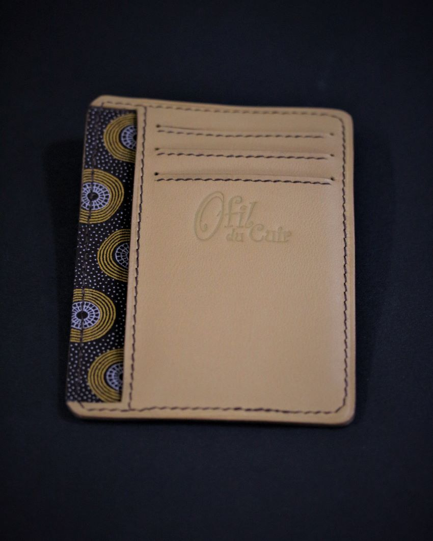 portefeuille porte cartes bancaire maroquinerie accessoires cuir camel ofilducuir