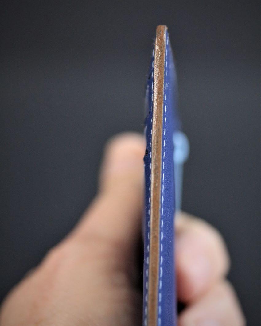 Porte cartes bancaire portefeuille cuir maroquinerie accessoires lyon bleu ofilducuir
