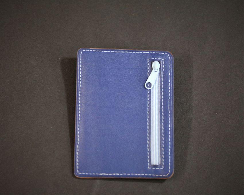 Porte cartes bancaire portefeuille cuir maroquinerie bleu ofilducuir