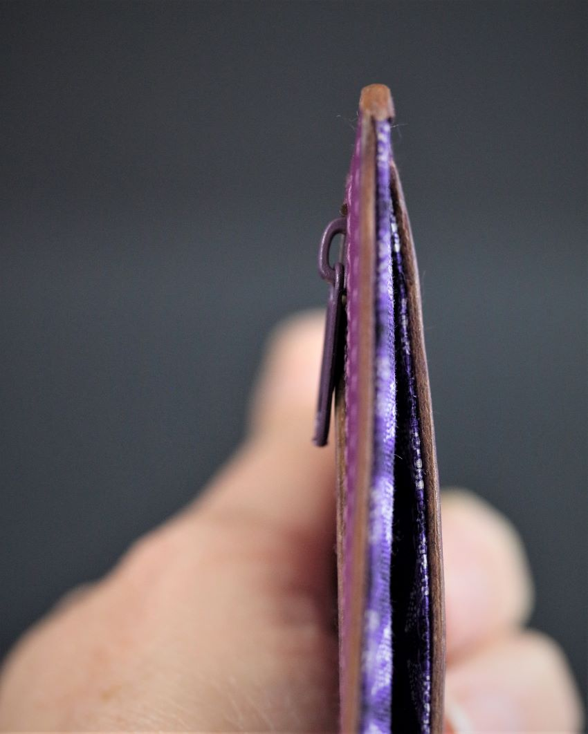 Porte cartes bancaire portefeuille maroquinerie accessoires cuir fuchsia ofilducuir