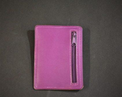 Porte cartes bancaire portefeuille maroquinerie cuir fuchsia ofilducuir