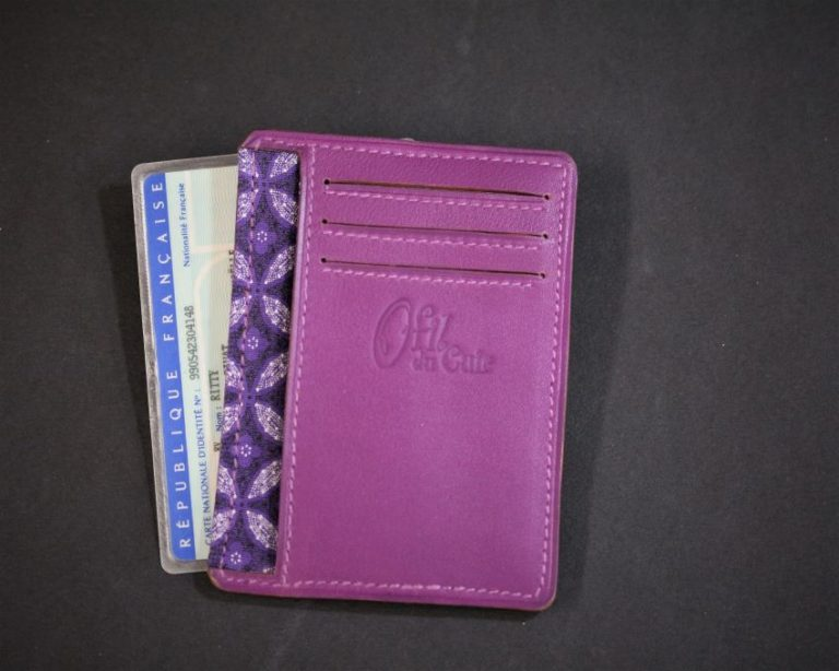 Porte cartes bancaire portefeuille cuir fuchsia ofilducuir