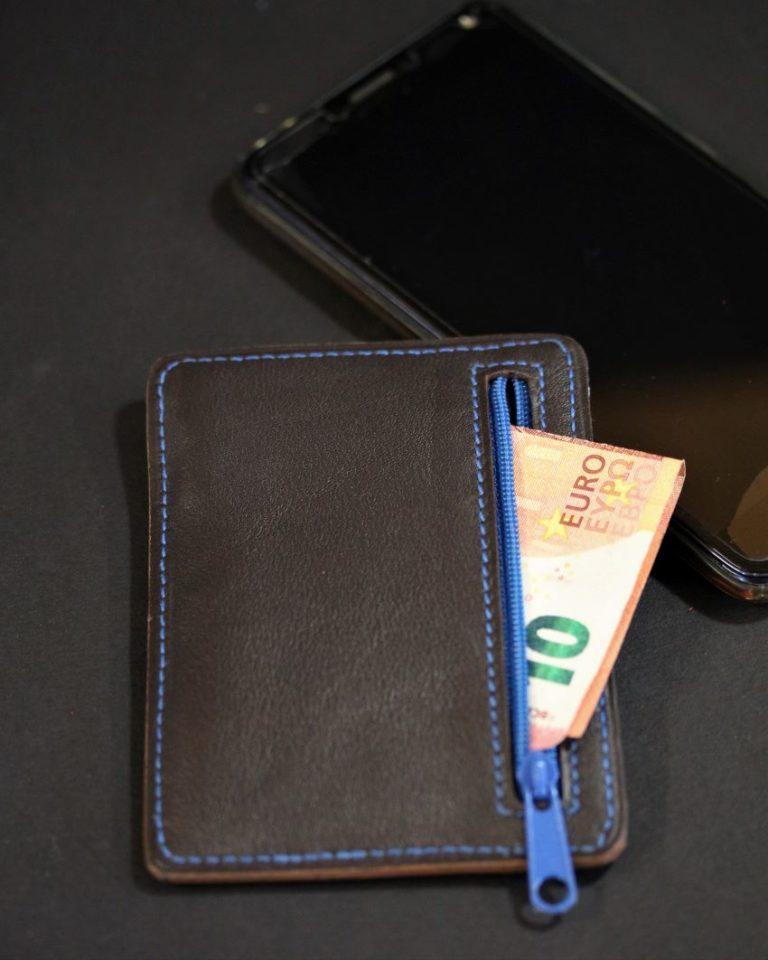 Porte cartes portefeuille cuir artisanat français lyonnais maroquinerie cuir eben ofilducuir