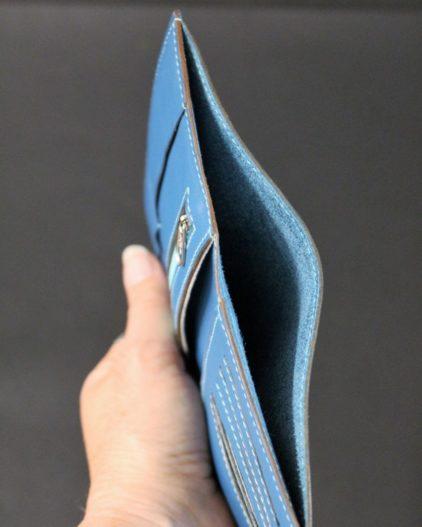 portefeuille cuir bleu maroquinerie ofilducuir