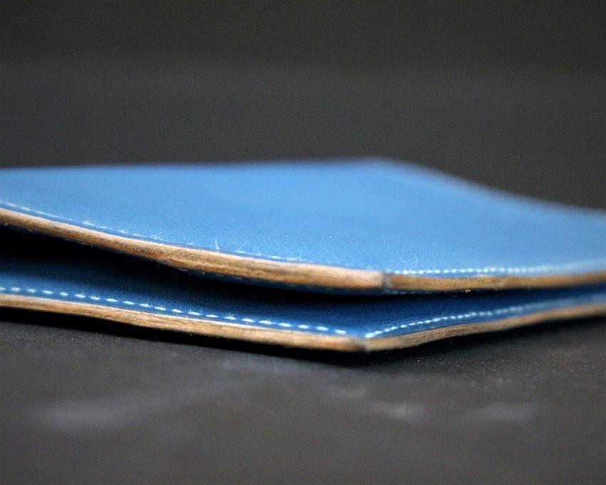 portefeuille cuir bleu maroquinerie haute gamme lyon ofilducuir