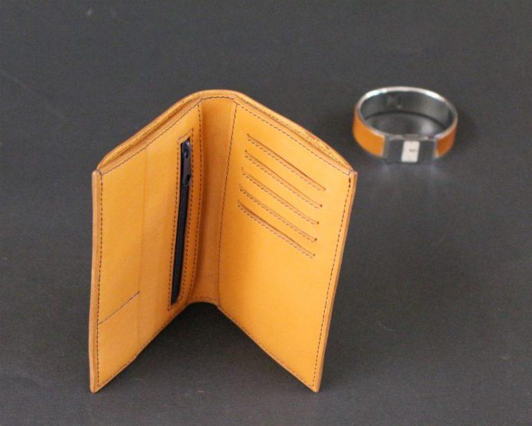 Portefeuille en cuir petite maroquinerie marron cartes bancaire ofilducuir