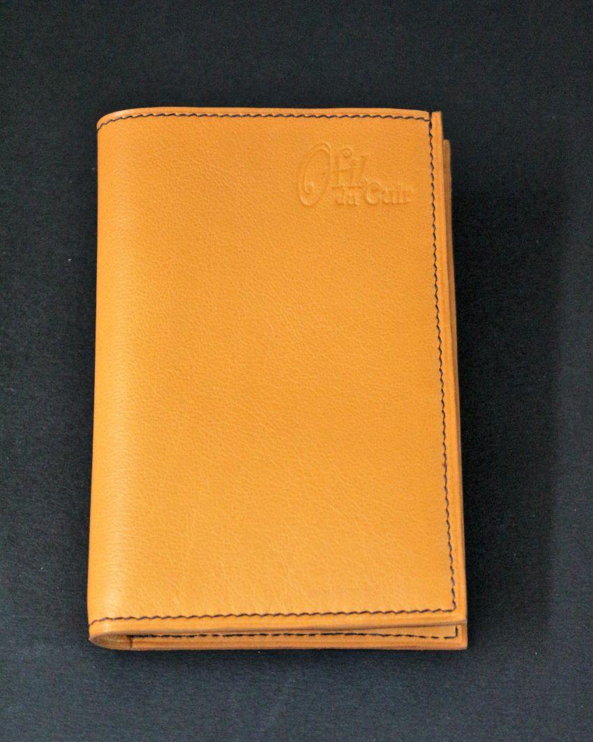 Portefeuille en cuir petite maroquinerie marron porte monnaie ofilducuir