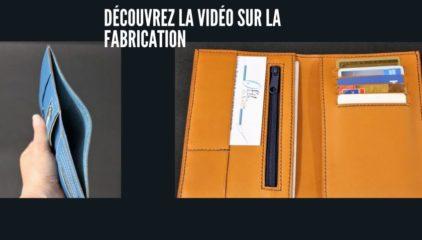 Fabrication d'un portefeuille en cuir.