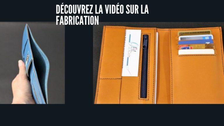 Vidéo fabrication portefeuille cuir ofilducuir maroquinerie Lyon accessoires