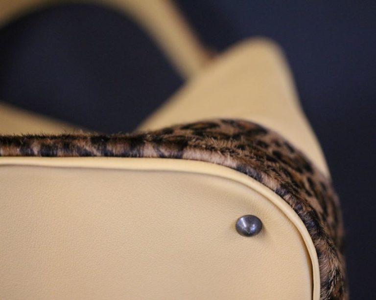 Sac seau cuir femme maroquinerie imitation léopard ofilducuir
