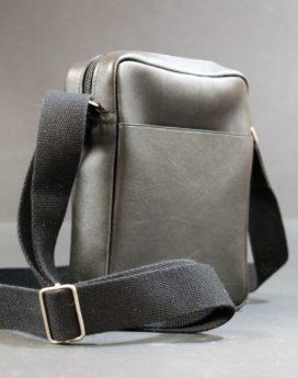 Sac pochette bandoulière cuir noir ofilducuir sportswear