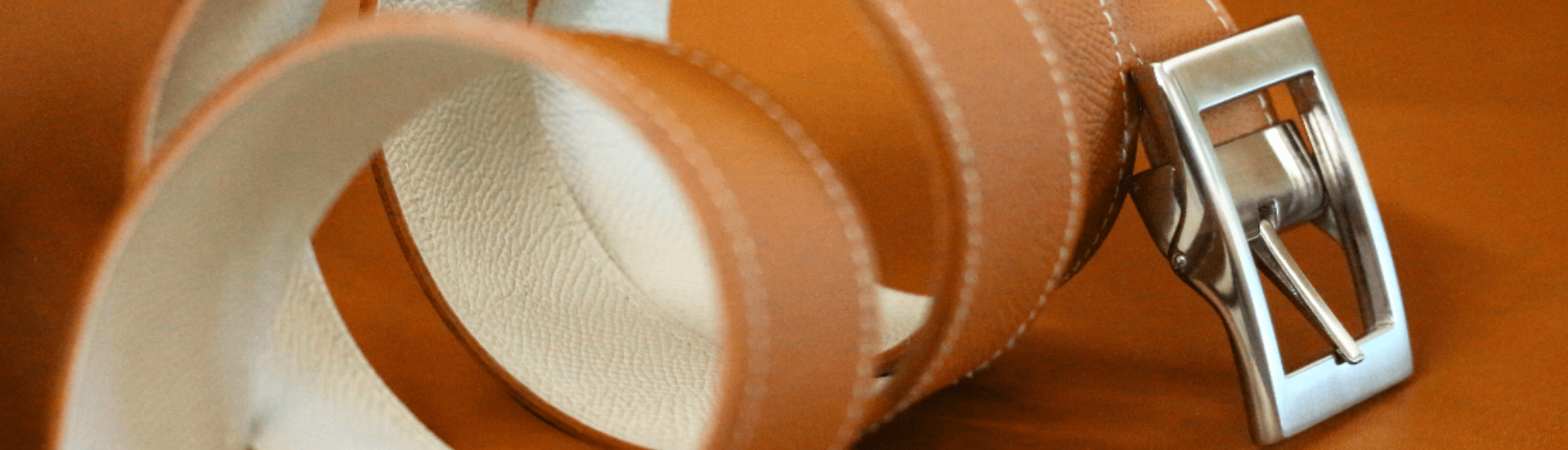 Ceinture cuir réversible camel vanille accessoire ofilducuir