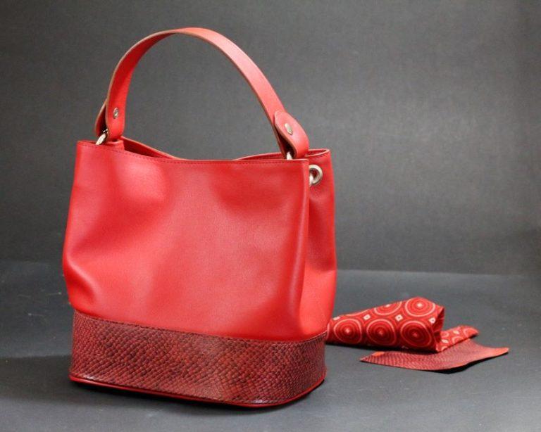 sac main seau rouge maroquinerie lyon cuir marin ofilducuir