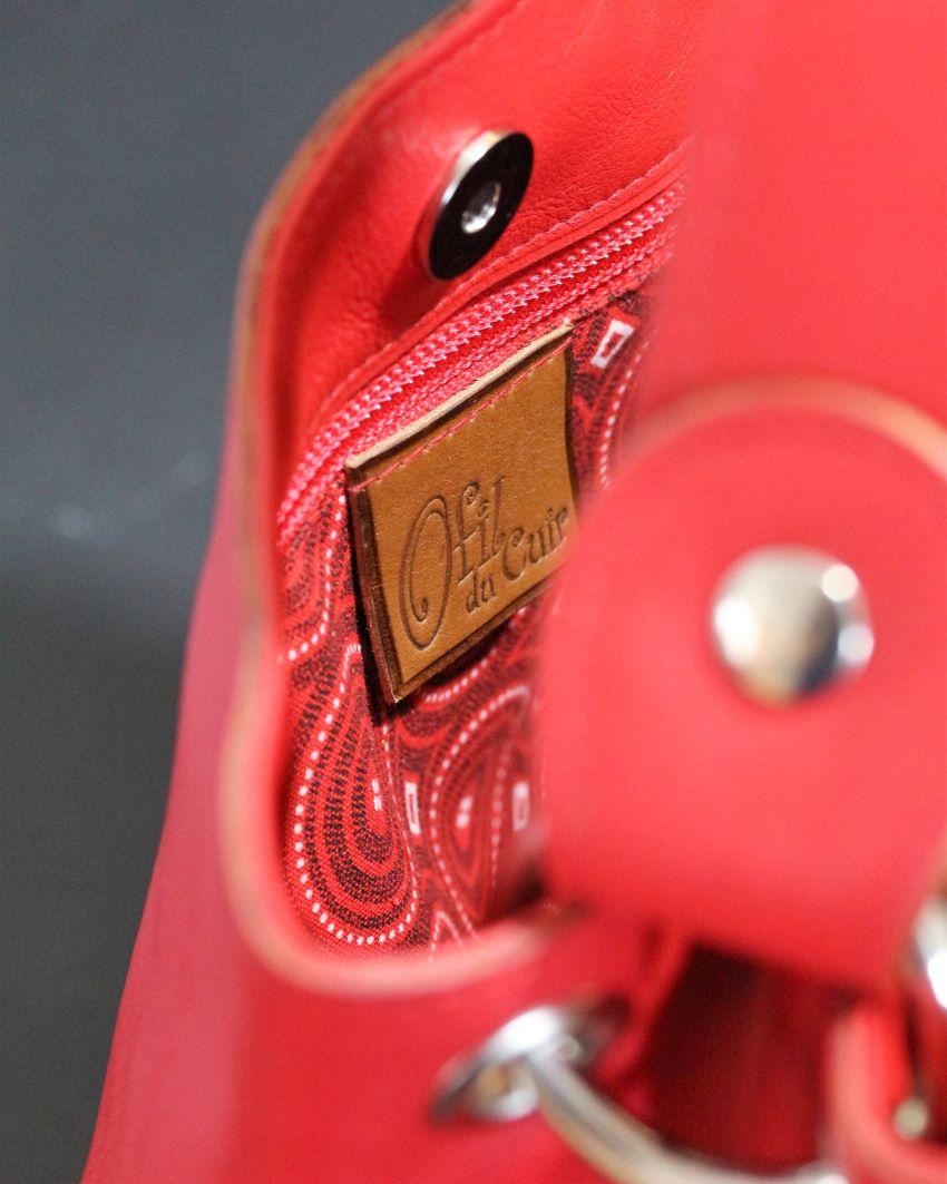 sac main seau rouge tissu africain ofilducuir