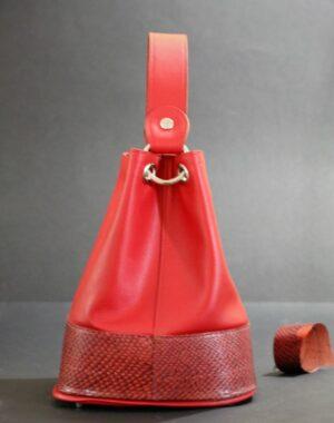 sac main seau rouge ofilducuir