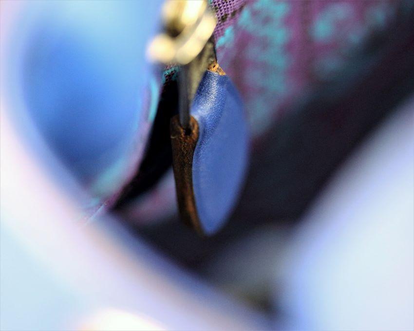 sac main seau cuir bleu ofilducuir maroquinerie haute gamme lyon