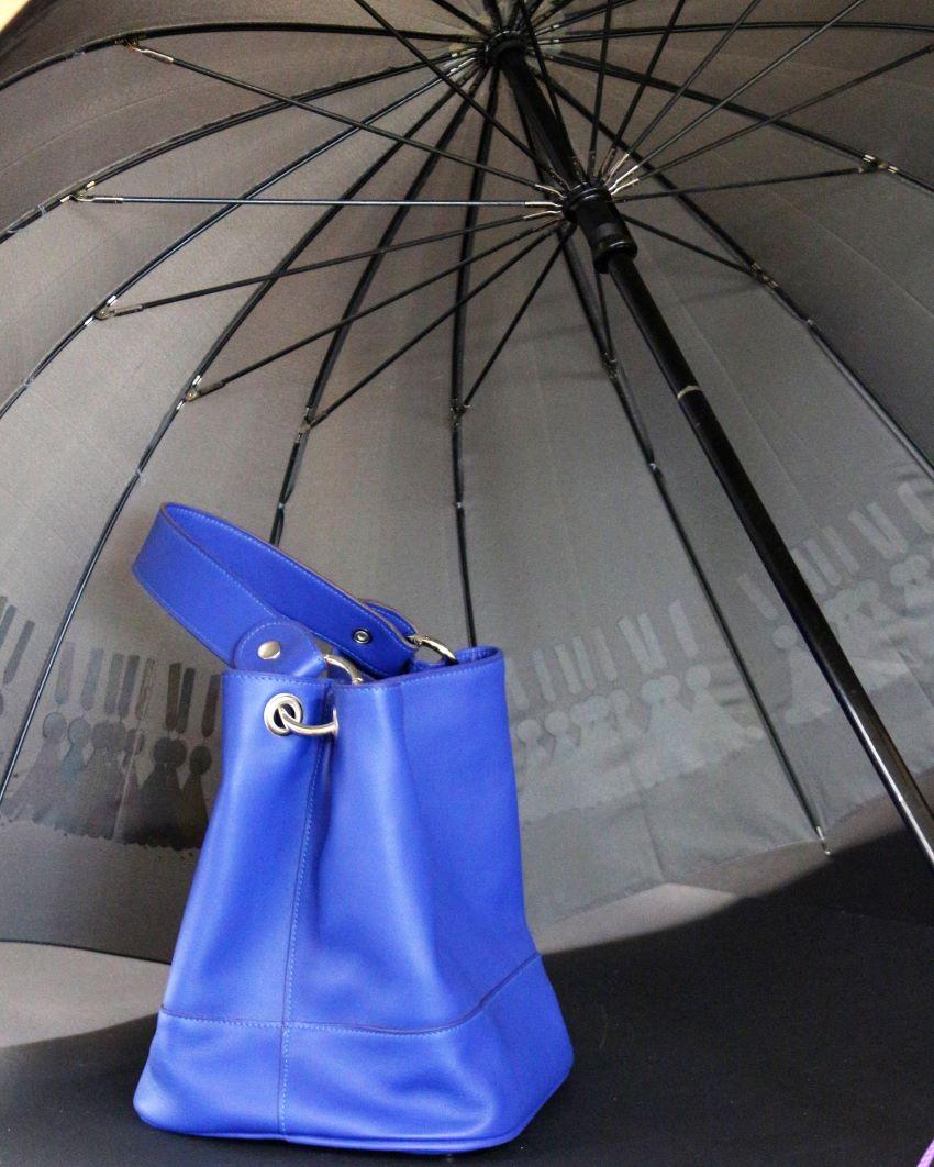 sac main seau femme cuir bleu ofilducuir maroquinerie lyon
