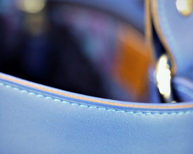 sac main seau cuir bleu ofilducuir maroquinerie lyon doublure tissu