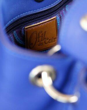 sac main seau cuir bleu ofilducuir maroquinerie